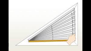 plissee verdunkelung plissee funktion am dreieckfenster youtube