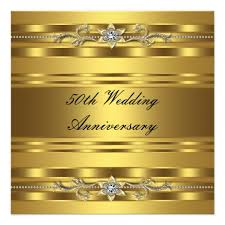 50th wedding anniversary greetings gold golden 50th wedding anniversary card zazzle
