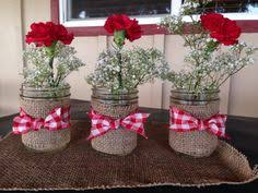 Country Centerpiece Ideas by Tin Cans Decorated To Fit A Country Theme Party For The Business