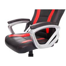 amazon com homcom race car style pu leather heated massaging