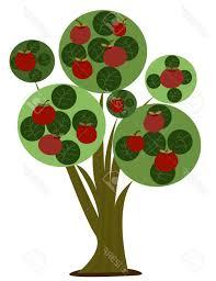 best 15 apple tree stock vector trees cartoon drawing