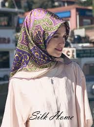 silk home silk home tivil ipek eşarp slk462 mor yeşil