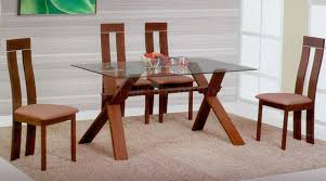 Glass And Wood Dining Tables Glass Top Dining Tables And Chairs Table Within Wood Idea
