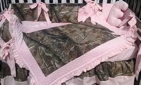 Pastel Crib Bedding Tree Camouflage And Pastel Pink Crib Bedding Set