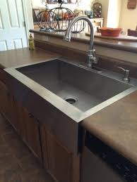 farm apron sinks kitchens modern kohler vault drop in farmhouse apron front stainless steel 36
