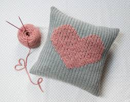 Knit Cushion Cover Pattern How To Make A Duplicate Stitch Heart Pillow Amy Alan Really
