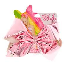 pink hair bow jojo siwa large pink holographic hair bow s
