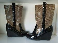 womens wedge boots size 9 houndstooth wedge boots for ebay