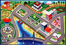 Paw Patrol Room Decor Amazon Com Nickelodeon Paw Patrol Road Rug Hd Digital Kids Room