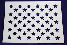 American Flag With 13 Stars In A Circle Amazon Com 50 Star Field Stencil 14 Mil 17 6