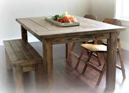 Farm Tables With Benches Ana White Red Hen Home U0027s Farmhouse Table And Bench Diy Projects