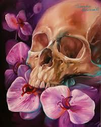 skull paintings by dmitriy samohin skulls