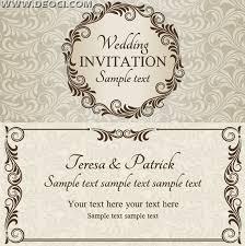wedding invitation card design template vector wedding invitation design template eps downloads deoci com