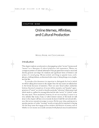 online memes affinities and cultural production pdf download