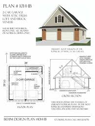 2 car garage plans with loft two car garage with attic truss loft plan 1014 1b 26 x 26 by behm