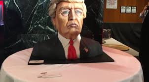donald trump makes early election night appearance u2014in cake form