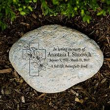 personalized garden stones personalized memorial garden stones memorial gifts from