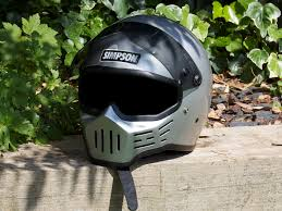 boys motocross helmet 1980 type 30 simpson the original bad boy awesome motorcycle