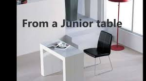 junior giant desk transforms into conference table by murphysofa