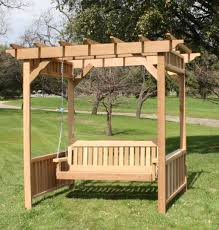 Garden Arbor Swing Deluxe Decorative Arbor Swing