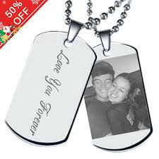 customize necklace customize picture necklace of titanium steel