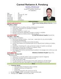 New Nurse Resume Examples by Curriculum Vitae Sample For Nurses Philippines Contegri Com