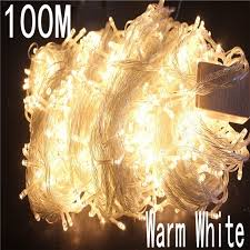 warm led christmas lights warm white colour 100 meter 800 led christmas light 8 mode for