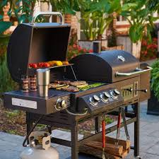 outdoor gourmet pro triton classic gas charcoal grill and smoker