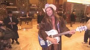 Trump Tower Inside Cowboy Sings Inside Trump Tower