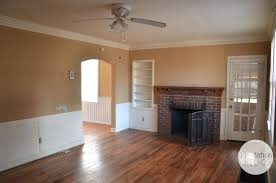 brick cottage after living room