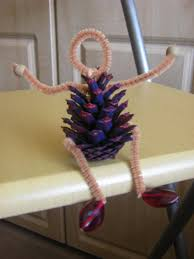 the craft arty kid old blog pine cone people