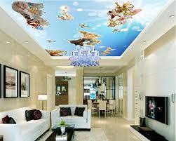 custom photo 3d ceiling murals wallpaper european angel myth wall