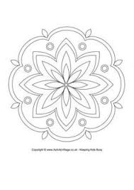 printable rangoli coloring pages kids cool2bkids mandalas