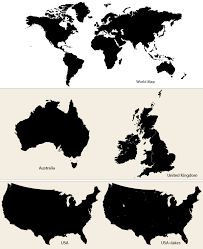 us vector map vector maps world map australia uk and usa free
