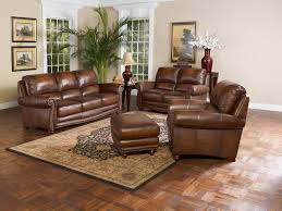 Brown Leather Sofa Living Room Ideas Crafty Design Leather Sofa Set For Living Room Impressive Ideas