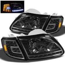 2000 F150 Tail Lights Ford F150 1997 2003 Black Euro Headlights And Led Corner Lights