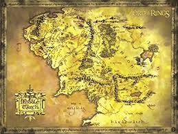 map from lord of the rings the lord of the rings poster map of