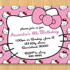 personalized hello kitty birthday invitations invitations templates
