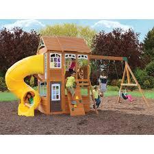 cedar summit richmond lodge wooden play set walmart com