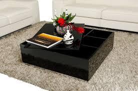 coffee table with glass top storage interior home design