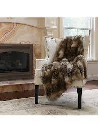 Fox Fur Blanket Faux Fur Throw By Wild Mannered 36