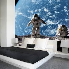 chambre theme espace livraison gratuite lune 3d espace univers murale technologie