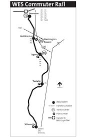 Portland Rail Map by Portland Commuter Rail Map U2022 Mapsof Net