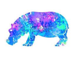 ornament hippo vector beautiful illustration hippopotamus for