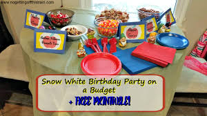 snow white birthday party budget free printable