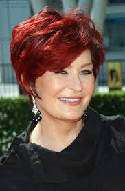 back view of sharon osbourne haircut sharon stone with a shorter hairstyle that is easy to do yourself