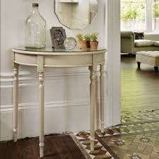 Narrow Hallway Table by The Versatile And Stylish Demilune Table