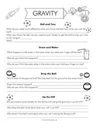 gravity worksheets gilreath pinterest kids worksheets