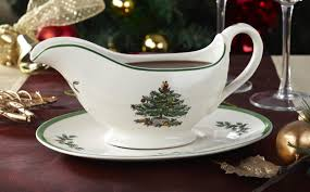 spode christmas tree sauce boat and stand spode uk