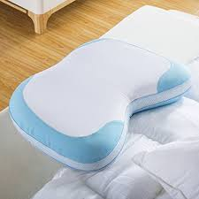 foam bed pillow langria memory foam bed pillow curved design with removable